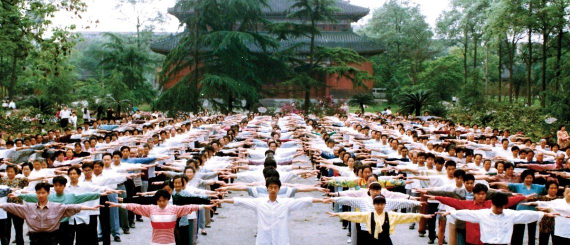 Pratiquants à Chengdu
