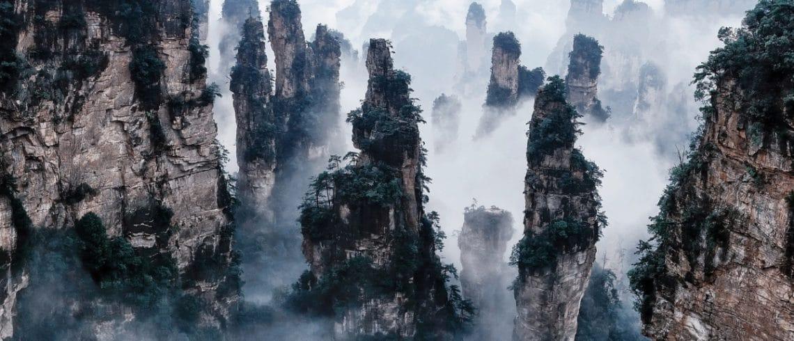 Les monts Tianzi dans la province du Hunan en Chine