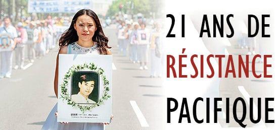 21 ans de résistance pacifique