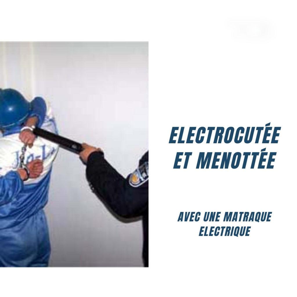 torture : électrocutée et menottée